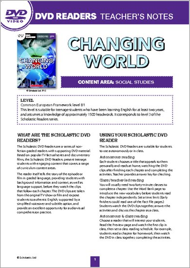 Changing World: Teacher's Notes