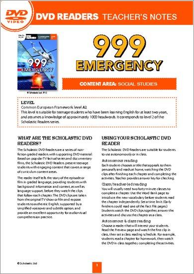 999 Emergency: Teacher's Notes