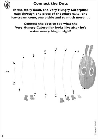 Very Hungry Caterpillar Dot to Dot