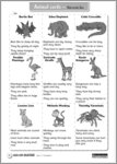 Animal cards for ages 5-7 (1 page)