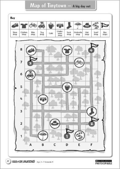 Map of Tinytown for ages 5-7
