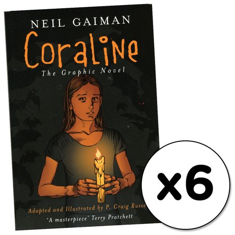 Coraline: The Graphic Novel x 6