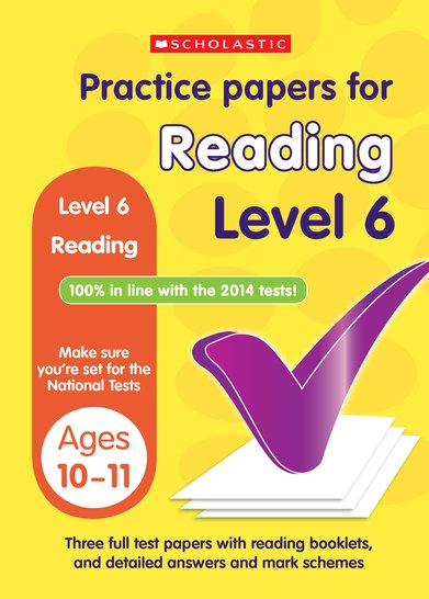 Practice Papers for National Tests: Reading (Level 6) x 6
