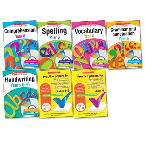 Scholastic Literacy Skills Pack with Practice Papers: Year 6