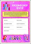 My Super Sister Friendship Quiz (2 pages)