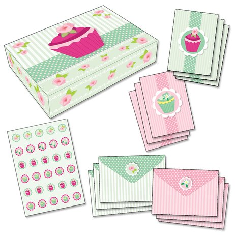 Cupcake Stationery Box