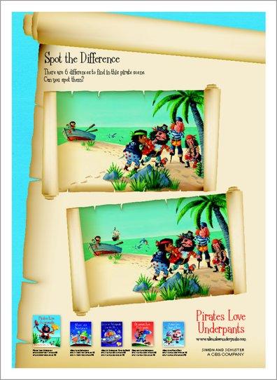 Pirates Love Underpants Activity pack