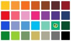 28 different coloured squares