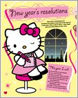 Hello Kitty New Year's Resolutions (2 pages)