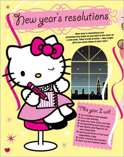 Hello Kitty New Year's Resolutions