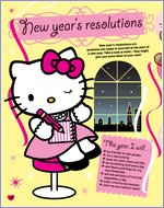 hello kitty new years resolutions