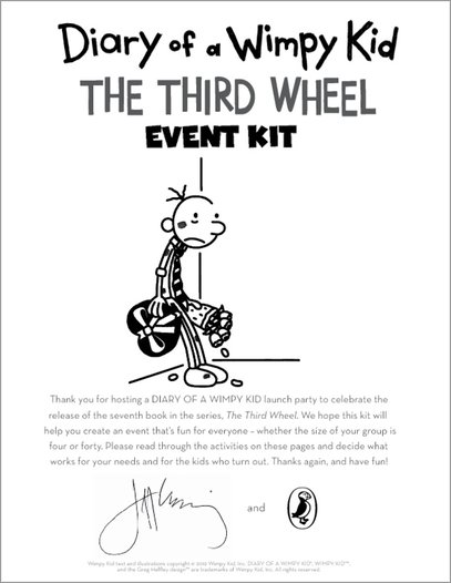 Wimpy Kid Third Wheel events pack