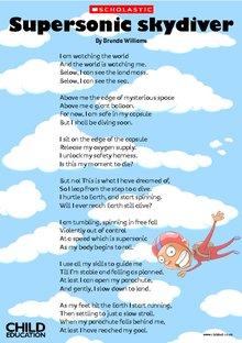 'Supersonic Skydiver' poem
