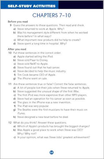 Steve Jobs: Sample Activities
