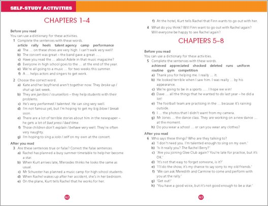 Glee: Summer Break - Sample Activities