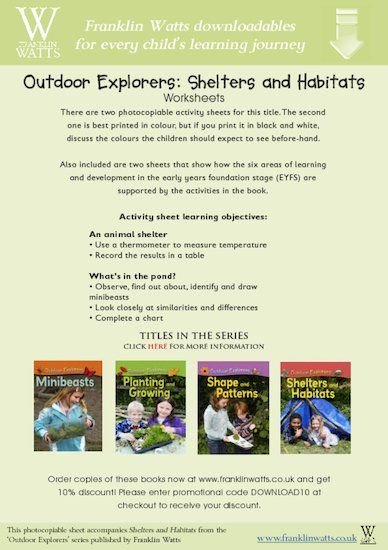 Outdoor Explorers: Shelters and Habitats Worksheets