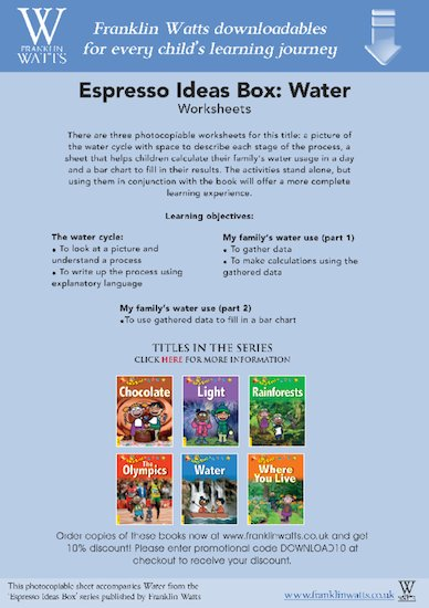 Espresso: Water Worksheets