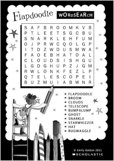 Fabulous Flapdoodle Wordsearch