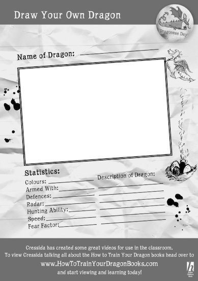 How to Train Your Dragon activity sheets