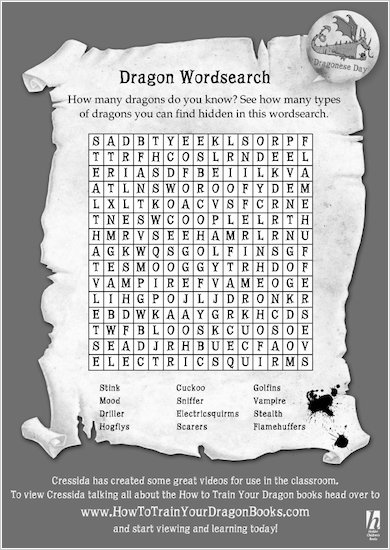 Dragon Wordsearch