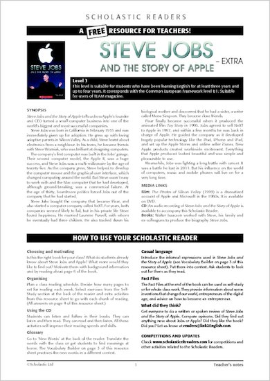 Steve Jobs - Resource Sheets and Answers