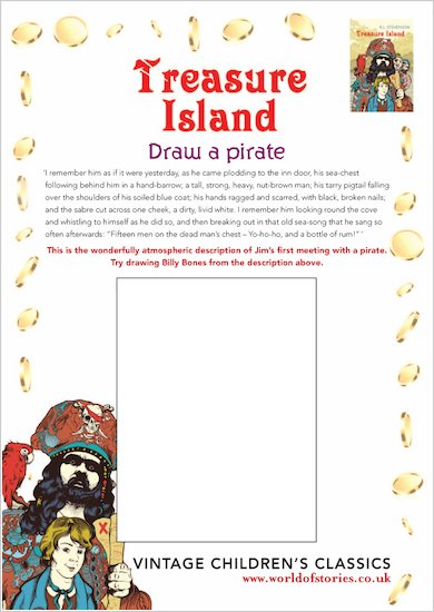 Treasure Island Draw a Pirate