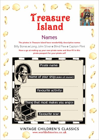 Treasure Island Pirate Name