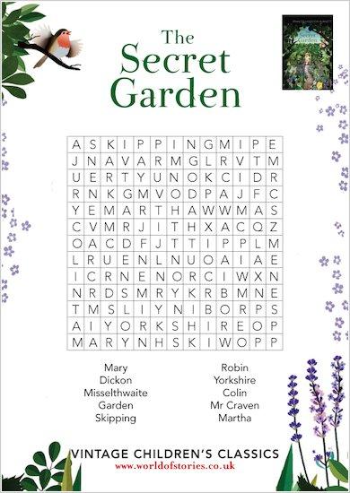 Secret Garden Wordsearch