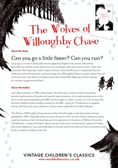 Wolves of Willoughby Chase Chatterpack