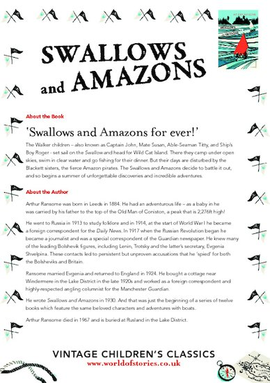 Swallows and Amazons Chatterpack