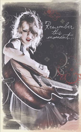 Taylor Swift Journal: Remember the Moment