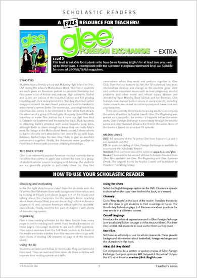 Glee: Foreign Exchange - Resource Sheets and Answers