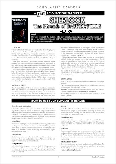 Sherlock: The Hounds of Baskerville - Resource Sheets and Answers