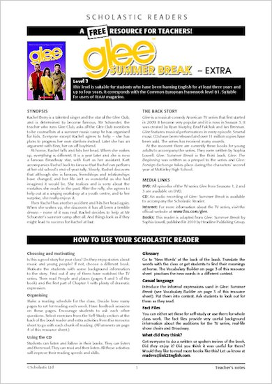 Glee: Summer Break - Resource Sheets and Answers