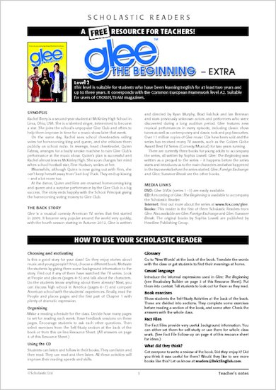 Glee: The Beginning - Resource Sheets and Answers