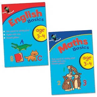 Leap Ahead Basics Pack: English and Maths (Ages 3-4)