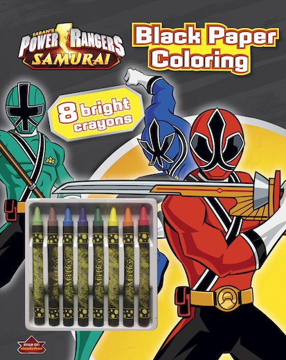 Power Rangers Samurai: Black Paper Colouring