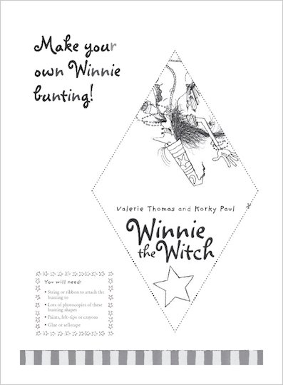 Winnie the Witch bunting