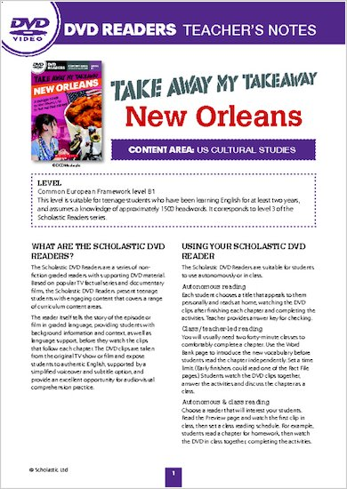 Take Away My Takeaway: New Orleans - Resource Sheets