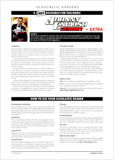 Johnny English Reborn - Resource Sheets and Answers