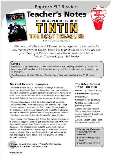 The Adventures of Tintin: The Lost Treasure - Teacher's Notes
