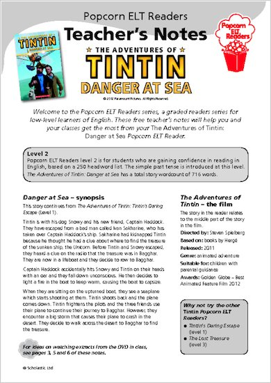 The Adventures of Tintin: Danger at Sea - Teacher's Notes