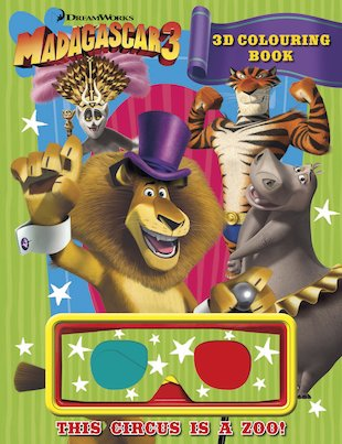 Madagascar 3: 3D Colouring Book
