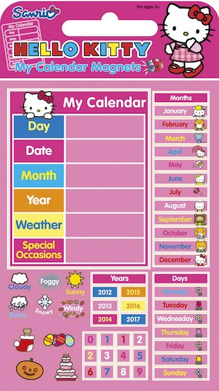 Hello Kitty: My Calendar Magnets