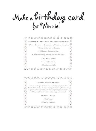 Winnie the Witch activity sheets
