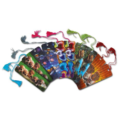 3D Laminated Lenticular Bookmarks x 10
