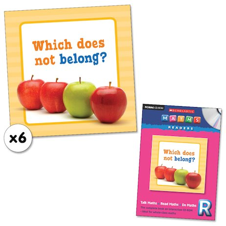 Maths Readers Reception: Which Does Not Belong? x 6 plus CD-ROM