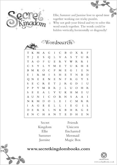 Secret Kingdom Wordsearch