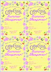 Cathy Cassidy Summer Sleepover Invites (1 page)