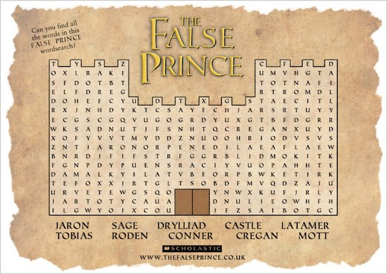 False Prince Wordsearch